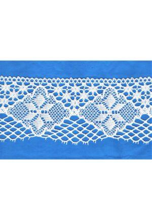 Dentelle blanc 85mm 100% coton dentelle crochet large couture, 8.5 cm