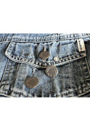 Bouton Jeans 17mm bronze, facile à poser, bouton jeans pression étoile, bouton salopette