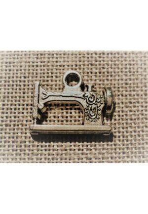 Breloque métal machine à coudre argenté, charme pour collier ou bracelet