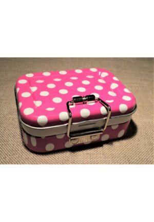 Trousse couture voyage fuchsia, boìte nécessaire à couture pour le voyage, kit couture compact