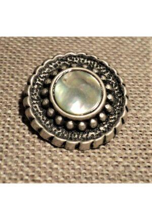 Bouton métal argenté 20mm bouton baroque pour gilet, veste, robe etc
