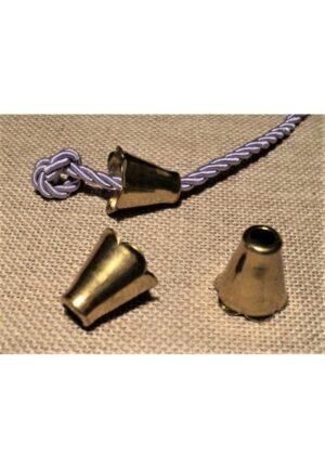 Embouts cordon métal doré (2), embouts de cordelette