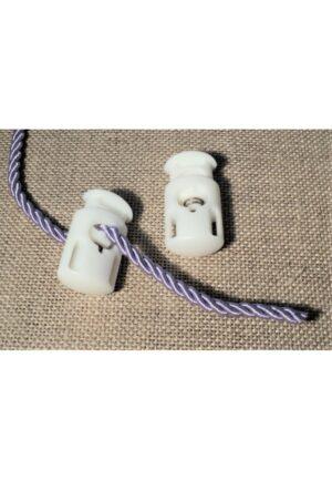 Arrêt cordon blanc 14mm, arrêt de cordelette blanc pour cordon 3mm,4mm,5mm