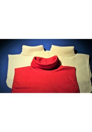 Faux Col blanc, écru, rouge roulé femme/homme, chaud plastron tricoté détachable