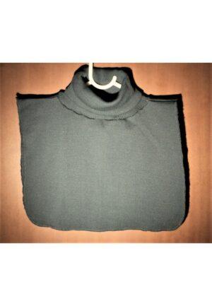 Faux Col gris roulé femme/homme, chaud plastron tricoté détachable
