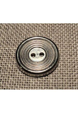 Bouton métal argenté 18mm 2-trous, bouton pantalon, jeans, robe, gilet