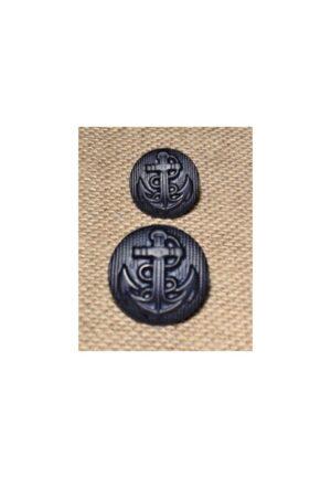Bouton ancre Bleu marine 13mm/17mm caban marin, bouton à queue, bouton demi boule corsaire bombé