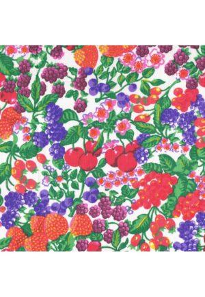 Coupon tissu 1mètrex150cm 100% coton fruits, loisirs creatifs