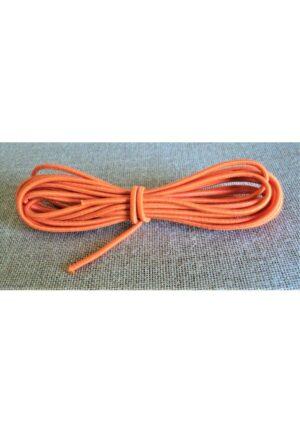 Elastique à chapeau 3mm Orange, élastique cordon rond orange 2.5 mètre