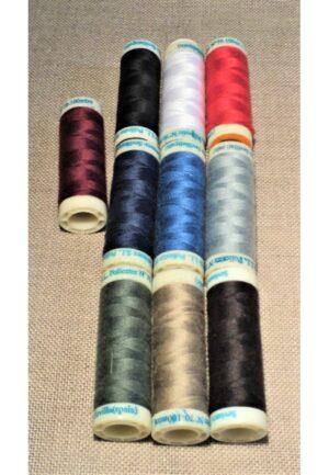Fil à coudre 10x100 mètres, tout tissu, SET couleur basic, 100% polyester