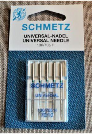 Schmetz Aiguilles nr.70 universal pour la machine à coudre STANDARD, 130/705H