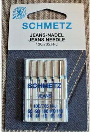 Schmetz Aiguilles Jeans universal pour la machine à coudre STANDARD, 130/705H, nr.90-100-110