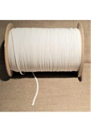 Elastique SOUPLE 2mm BLANC (10mètres), élastique plat DOUX pour lingerie, masque, vêtements bébés, poupées etc