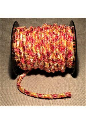 Elastique 5mm orange jaune, élastique cordon rond, élastique décoratif
