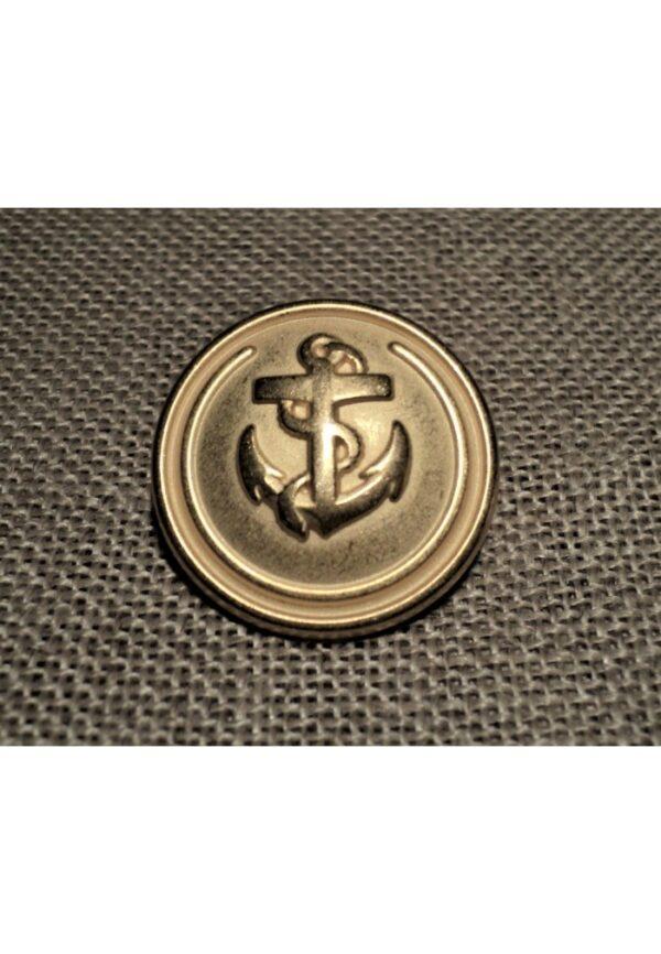 Bouton Caban Marin doré avec ancre 15/18/23mm METAL, bouton à queue, bouton corsaire doré
