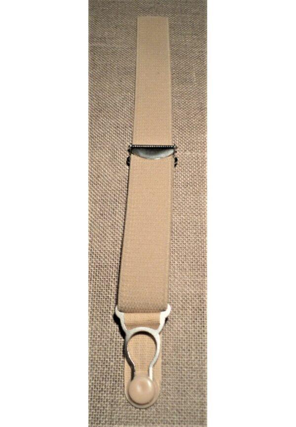 Jarretelle à coudre 20mm chair, attache jarretelle, clip jarretelle métal