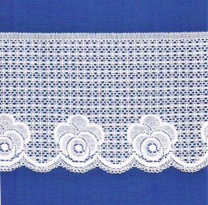 Dentelle ELASTIQUE blanc 130mm, dentelle lycra blanc, dentelle extensible au mètre, couture, lingerie, floral, mariage
