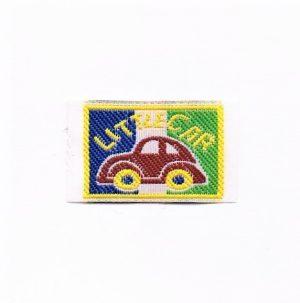 Ecusson à coudre la petite voiture (little car) 3.5x2.2cm