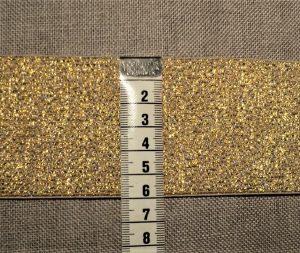 Elastique souple 60mm Doré pour les ceintures, jupes et pantalons, vendu par 10cm