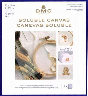 Canevas Soluble DMC 20x22 cm 5.5 pts/cm, Aida soluble