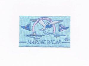 Ecusson à coudre vêtements marins (marine wear) 6.5x4.0cm