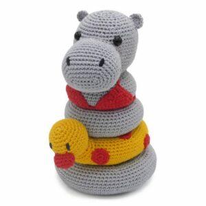 Kit Crochet Helga l'hippopotame 20cm, kit complet, Amigurumi de Hardicraft