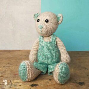 Kit Tricot John l'ours vert 25cm, kit complet, Amigurumi de Hardicraft
