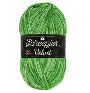 Colour Crafter Velvet 100g Vert pomme dégradé, fil à tricoter, Scheepjes pour vestes, pulls, bonnet, écharpes etc